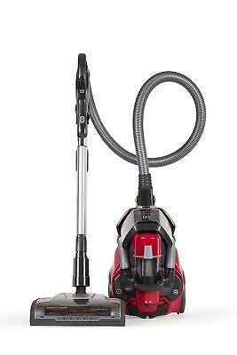 Red Corded Ultra Flex Canister Vacuum Cleaner With On/off Brush Roll Switch