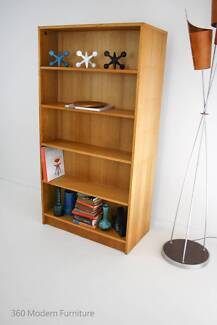 Industrial Mid Century Original Double Sided Bookcase Shelves