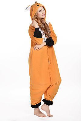 Halloween Adult Animal Cosplay Costume Fox Kigurumi Onesie0 Pajamas Sleepwear