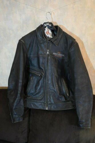 Harley Davidson American Legend Distressed Black Leather Jacket L 1903 Eagle EXC