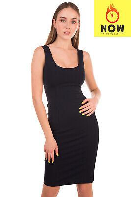 RRP €1605 VERSACE Pencil Dress Size 40 / S Stretch Sleeveless Made in Italy