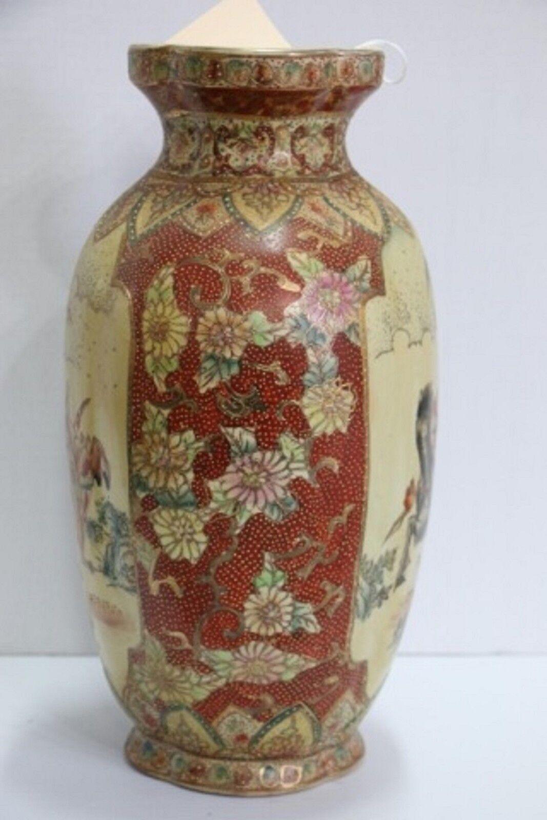 Royal satsuma vase hunting scene signed on the base made in royal satsuma vase hunting scene signed on the base made in china 14 tall reviewsmspy