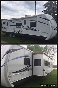 Outback 312BH OUTSIDE KITCHEN and SLIDEOUT BUNKROOM