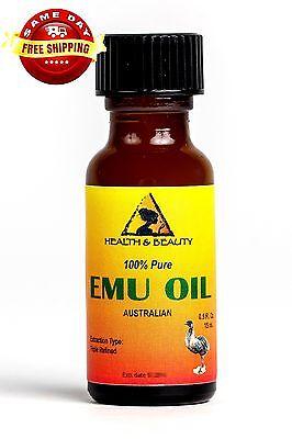 AUSTRALIAN EMU OIL ORGANIC TRIPLE REFINED by H&B Oils Center 100% PURE 0.5 OZ
