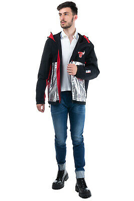 RRP €630 MARCELO BURLON COUNTY OF MILAN x NBA CHICAGO BULLS Jacket Size L Hooded