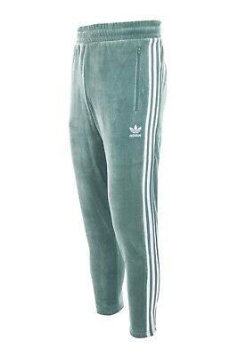 BNWT Adidas Originals Cozy Velour Track Pant Jogger Vapour Steel Green DV1620 S