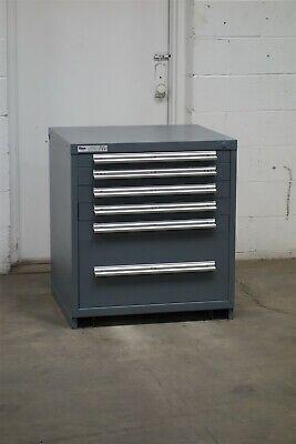 Used Stanley Vidmar 6 Drawer Cabinet 33 High Industrial Tool Storage 2154