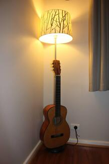 Guitar Lamp Created by Resurrection Instruments