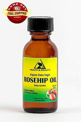 ROSEHIP SEED OIL UNREFINED ORGANIC by H&B Oils Center PURE GLASS BOTTLE 1 OZ