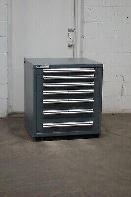 Used Stanley Vidmar 7 Drawer Cabinet 33 High Industrial Tool Storage 2190