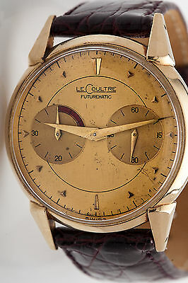 Vintage LeCoultre 14k Yellow Gold Gold FUTUREMATIC Mens Dress Watch RARE for sale  Shipping to Canada
