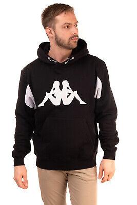 KAPPA KONTROLL Hoodie Size L Glued Logo Front Mesh Trim Fleece Inside