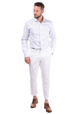 RRP €145 BE ABLE Chino Trousers Size 33 Stretch Flat Front Zip Fly Made in Italy