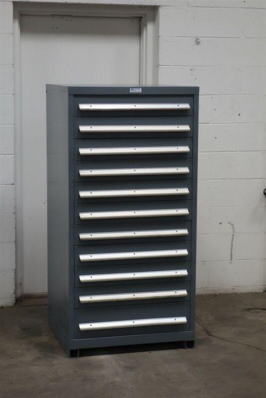 Used Nu-Era 11 drawer cabinet industrial tool parts storage #2199 Vidmar