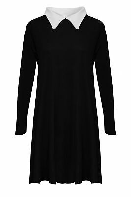 WOMENS PETER PAN SWING DRESS COLLARED AADAMS FAMILY TOP FLARED PLUS SIZE JERSEY](Plus Size Peter Pan Costume)