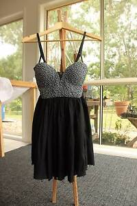OneTeaspoon SILVER BEADED BODICE dress - WORN ONCE! Size 10 Karalee Ipswich City Preview