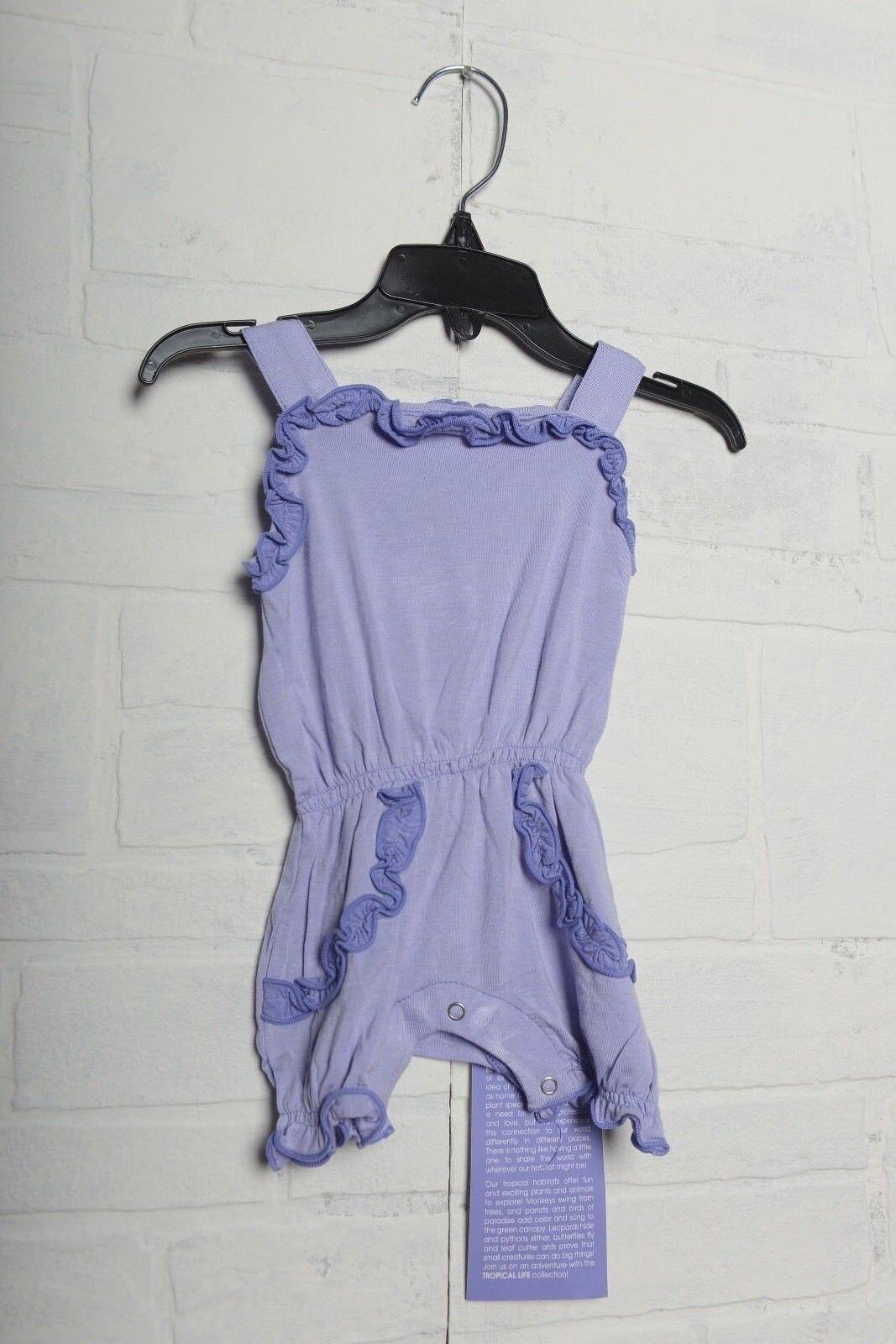 KicKee Pants Baby Girls Sweetie Pie Romper Lilac Forget me n