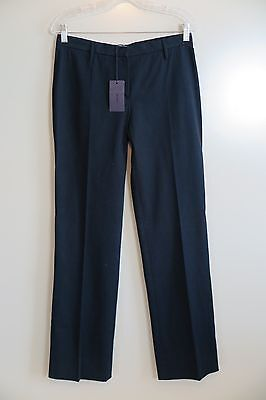 NWT Prada Black Cotton Blend Pants Size 42 Made in Italy