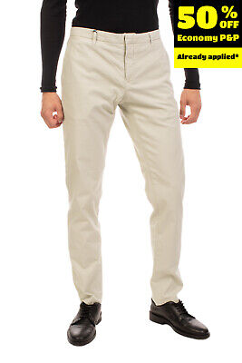 RRP €160 SIVIGLIA Chino Trousers Size 36 Stretch Garment Dye Mid Waist Zip Fly