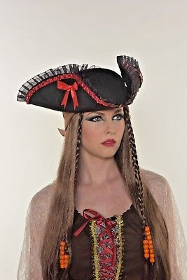 HALLOWEEN COSTUME PIRATE LADY HAT FOR ADULTS and KIDS PARTY FAVOR  G0384