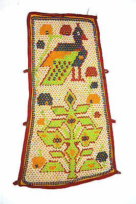 Vintage Hand Embroidery Work Kutch Heavy Beaded Wall Hanging Décor. i17-18 UK