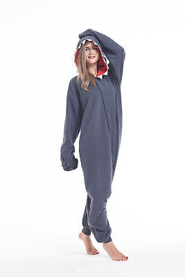 Shark Onesie Adult (Animal Onesie0 Adult Unisex Shark Kigurumi Pajamas Cosplay Costume for Women)