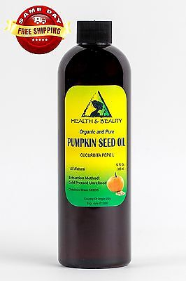 PUMPKIN SEED OIL UNREFINED ORGANIC CARRIER COLD PRESSED VIRGIN RAW PURE 12 OZ