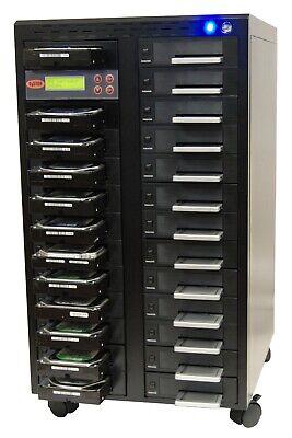 "SySTOR 1:24 SATA 2.5&3.5"" Dual Port Hard Drive Duplicator/Wipe-Hi Speed 150MB/s"