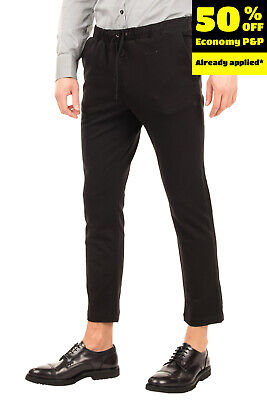 DANIELE ALESSANDRINI HOMME COUTURE Sweat Trousers Size 50 / L Stretch Cropped