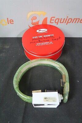 Dwyer 1211-8 Slack Tube Manometer 4-0-4 Range 6oz Red Gauge Fluid