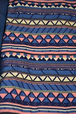 LULAROE Tall and Cuvy TC Leggings blue, pink. off white, black Aztec - Pink And Purple Striped Leggings
