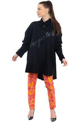 RRP €725 MM6 MAISON MARGIELA Thin Wool Shirt Size 48 / XXL Glitter Dipped Hem