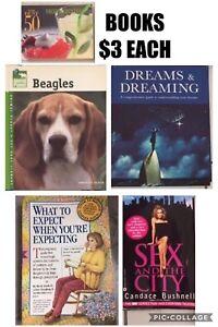 Books $3 each