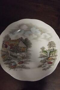 """Alfred Meakin Famous Cottage Collection bread plate """"Izaak Walton Calwell Tuggeranong Preview"""
