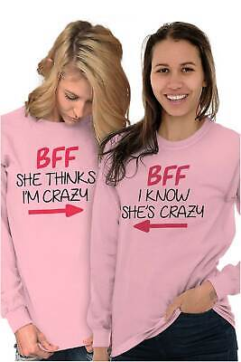 BFF Cute Best Friends Matching Gift Idea Long Sleeve T-Shirts Tee For