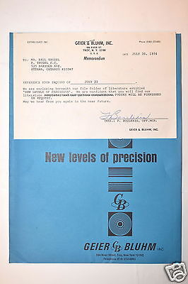 Geier Bluhm Germany New Levels Of Precision Machinists Level Brochures Rr557