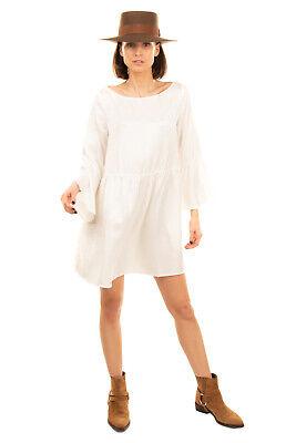 RRP €320 MM6 MAISON MARGIELA Satin Tunic Dress Size 42 M Gathered Made in Italy
