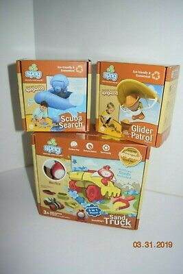 Sprig Sand Truck, Glider Patrol, & Scooba Search - Eco Friendly - Play Sets - Bulk Play Sand