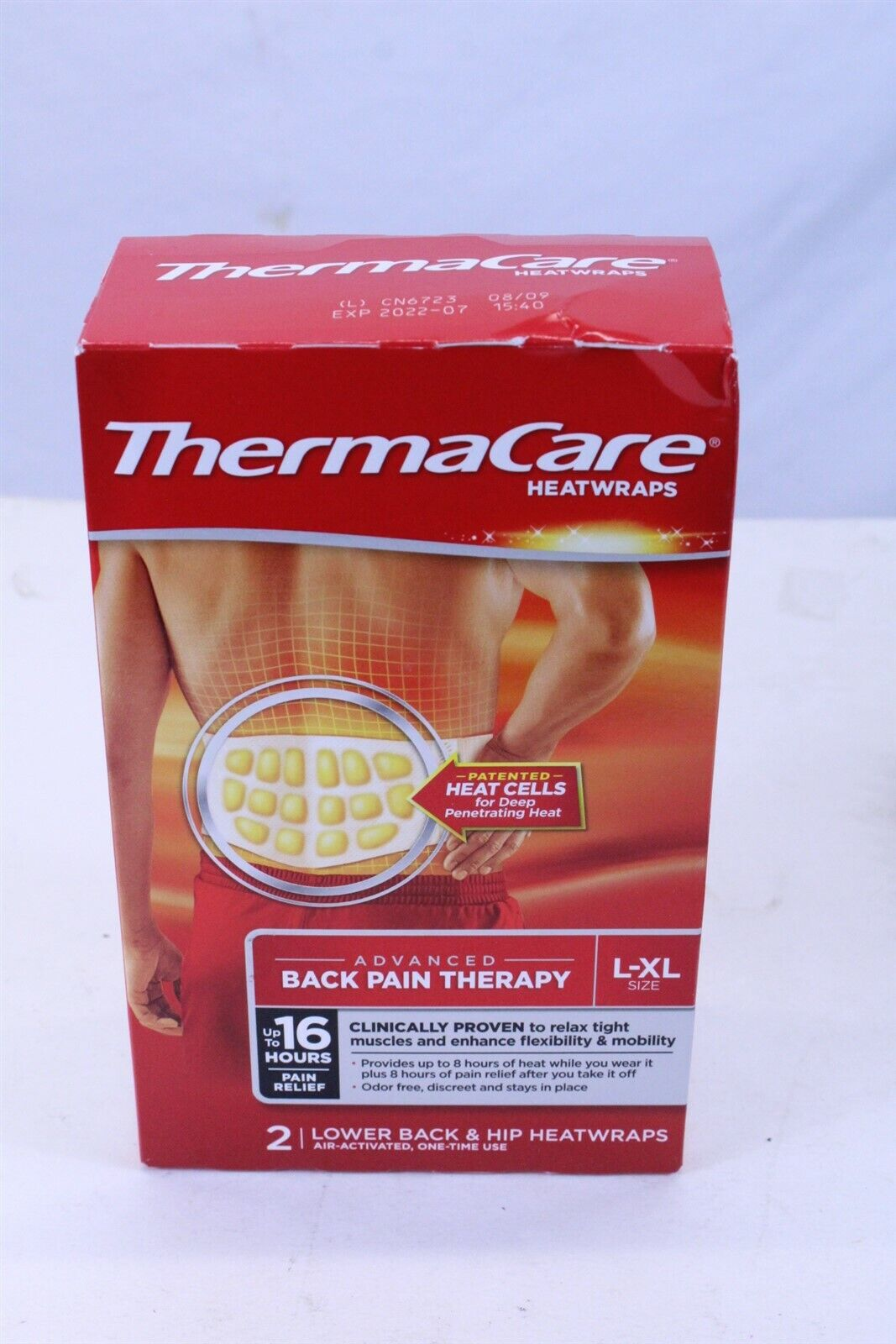 Thermacare  Back/Hip, L-XL, 8 hr
