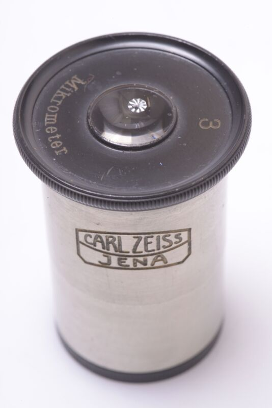 ZEISS MICROMETER, MIKROMETER EYEPIECE NO.3 MICROSCOPE OCULAR LENS