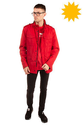 RRP €570 FAY Military Style Jacket Size XL Padded Concealed Hood Made in Italy