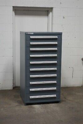 Used Stanley Vidmar 10 Drawer Cabinet Industrial Tool Storage 2163