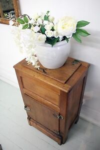 Antique Oak Ice Chest Ice Box Storage Cabinet Cupboard c.1930 Sydney City Inner Sydney Preview