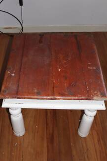 chunky wood farm style coffee table / side table