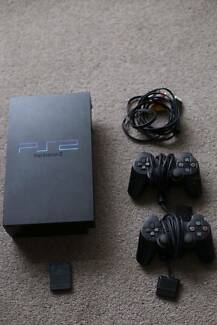 Sony PlayStation 2 Charcoal Black PS2 Fat Console w Controller an Holden Hill Tea Tree Gully Area Preview