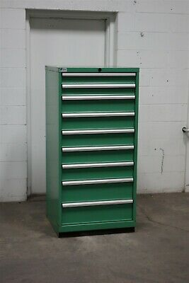 Used Lista 9 Drawer Modular Cabinet Industrial Tool Storage 2183 Vidmar