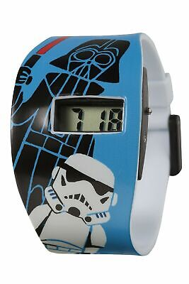 Star Wars Children's Digital LCD Watch with Stormtrooper Print Blue PU Strap