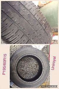 4 winter tires P195/60R15