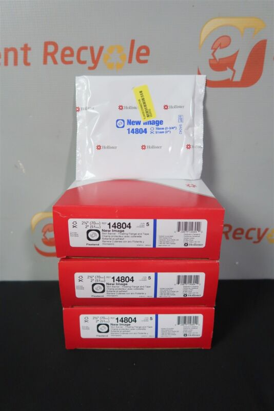 """Hollister 14804 New Image 2 3/4"""" Skin Barrier Floating Flange Tape Ostomy Lot 13"""