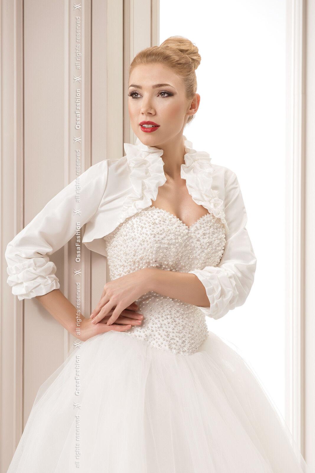 New Women Wedding Top Satin Ruffle Bolero Shrug Bridal ...